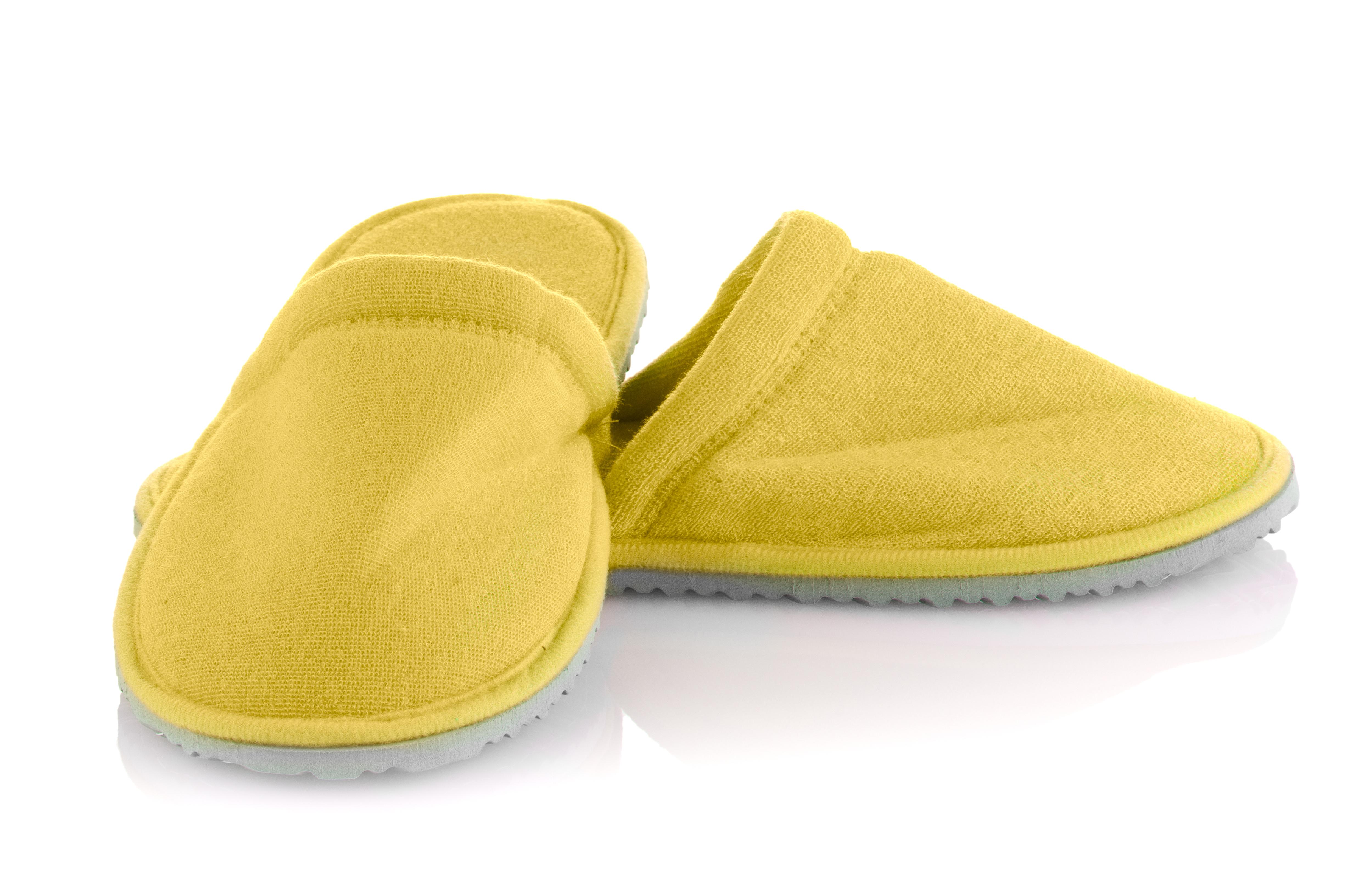 黄色いスリッパ